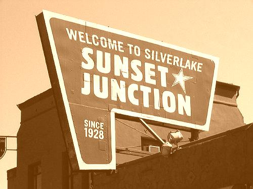 sunset-junction-sign-silver-lake-sepia